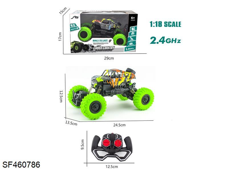 2.4GHz 1:18 cross light watermark cross country skeleton climbing vehicle